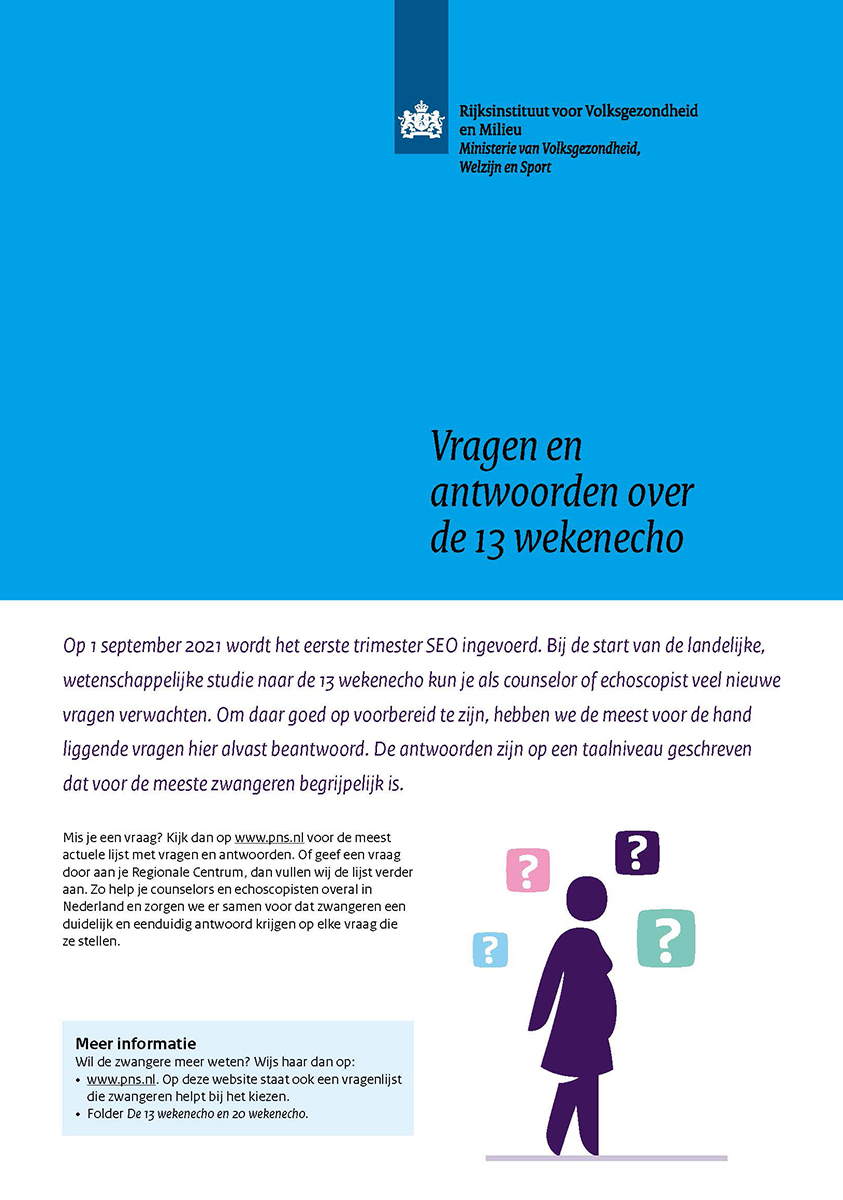 't Kleine Wonder - Verloskundigenpraktijk Lelystad - Folder Informatie over de 20 weken echo