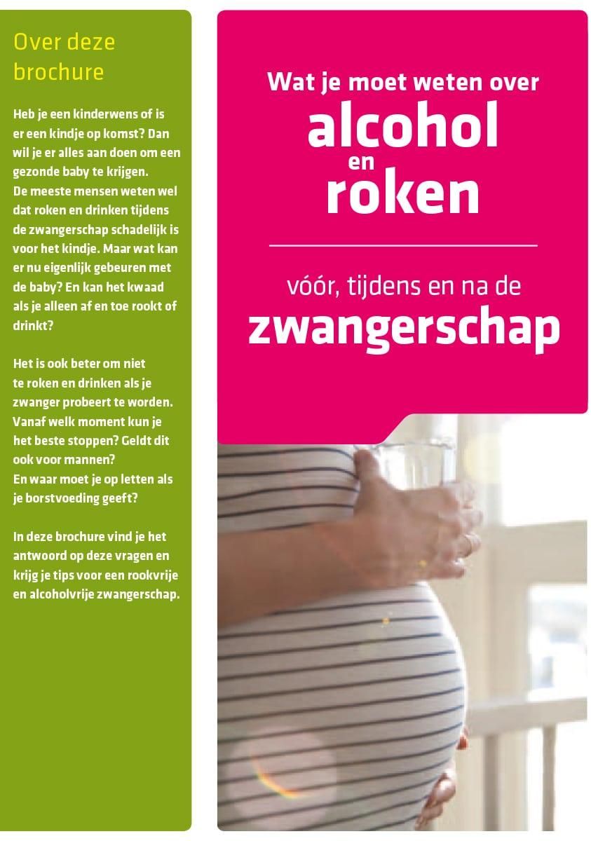 't Kleine Wonder - Verloskundigenpraktijk Lelystad - Folder Wat je moet weten over alcohol en roken voor tijdens en na de zwangerschap